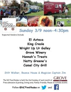Grove Winery Food Truck Rodeo - March 9th