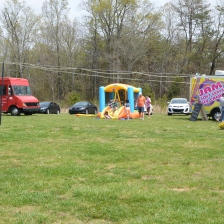 Cool bounce house for the kids between King Creole and Jam Ice Cream