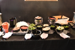 The Pho Bar was very popular during the event.