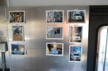 Photos were placed around the truck of its metamorphosis