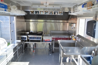 Everyone commented on the kitchen's size.