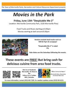 Morrisville Movie in Park