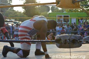 One of my favorite pictures with Sōl Tacos and Gouge Wrestling at Raleigh Brewing Company.