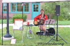 Artist Kristi Dixon, krisitdixon.com, played for market passer-bys