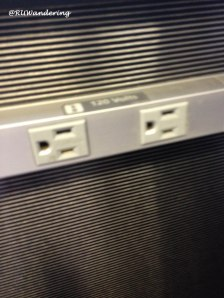 A blogger's friend, an outlet to charge gadgets and mobile devices.