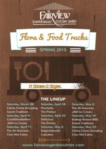 Flora & Food Trucks Poster 2015