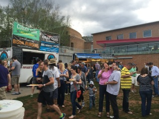 Food Trucks and Beer are available at the finish line in Elmwood Park